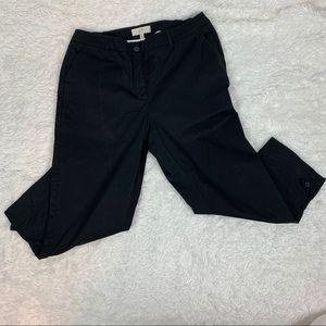 Talbots black cropped length pants/14 W